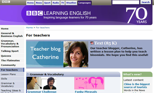 BBC Learn English for teachers