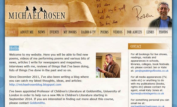 Michael Rosen's website and blog