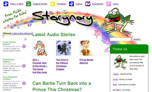 Storynory free audio stories