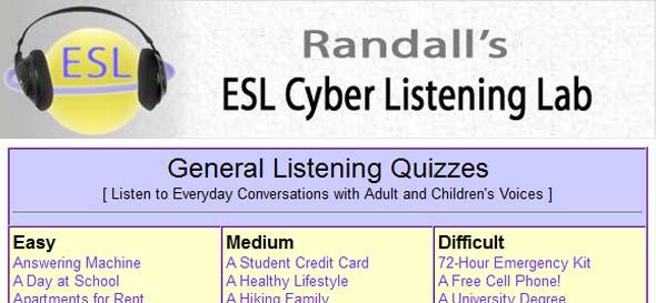 English Resources - Randall's ESL Lab