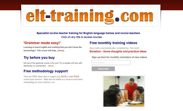 ELT Training - ESL teacher training