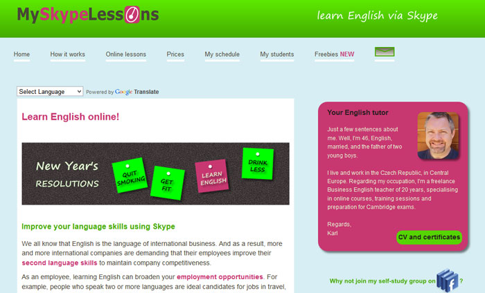 My Skype Lessons - English lessons on Skype