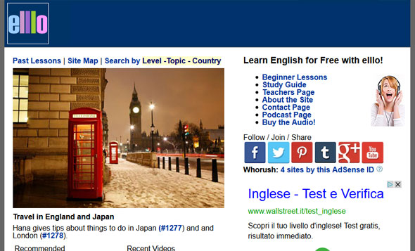 English Listening Library Online