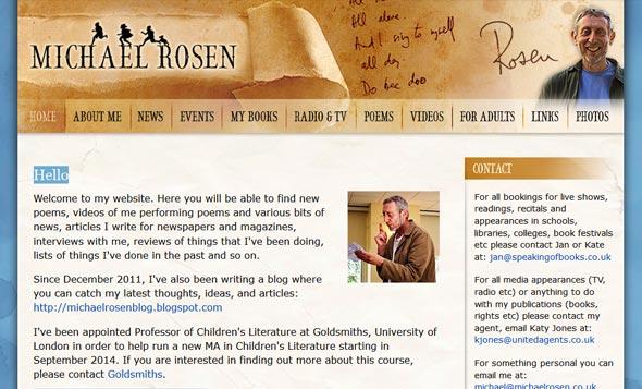 Michael Rosen's website