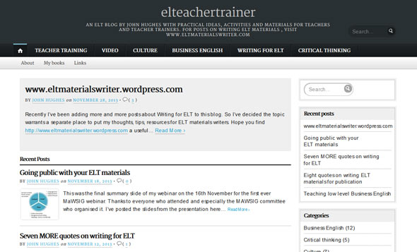 ELT Teacher Trainer - a Teachers Blog