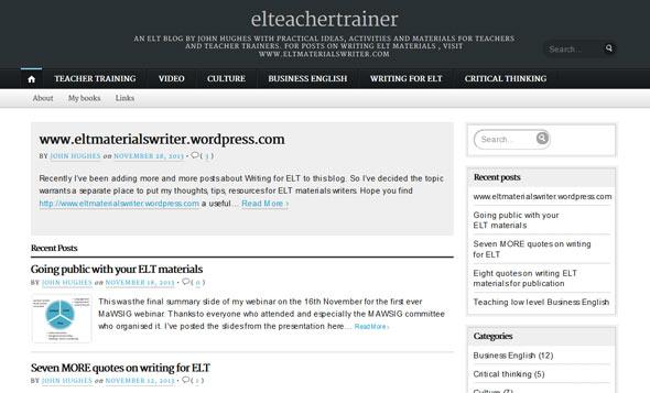 ELT Teacher Trainer - a Teachers Blog