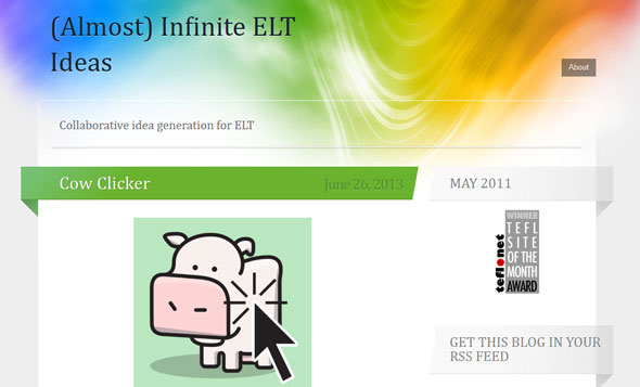 Almost Infinite ELT Ideas - a Teachers Blog