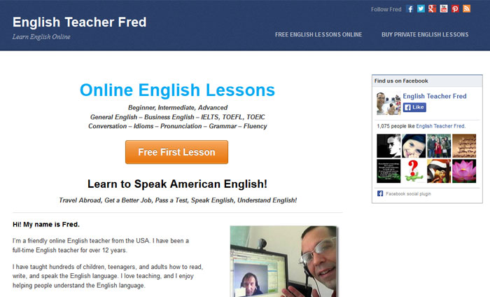 English Teacher Fred - Online English Courses