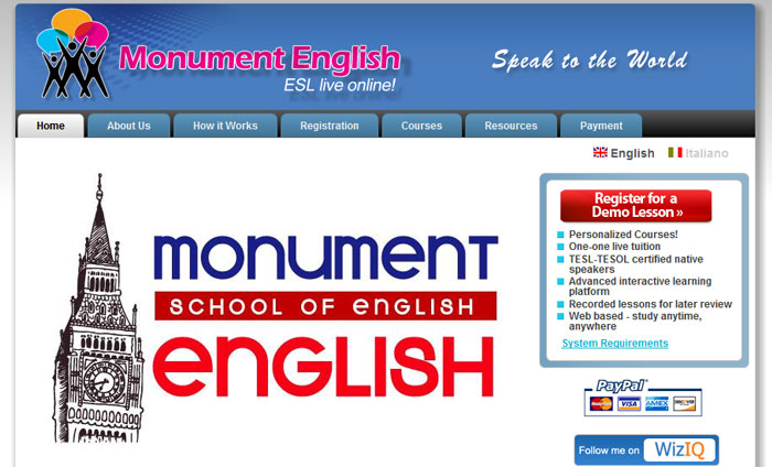 Monument English - Online English Courses
